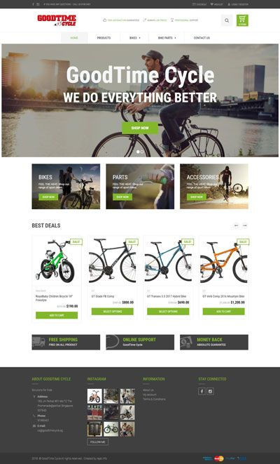 GoodTime Cycle Website Design