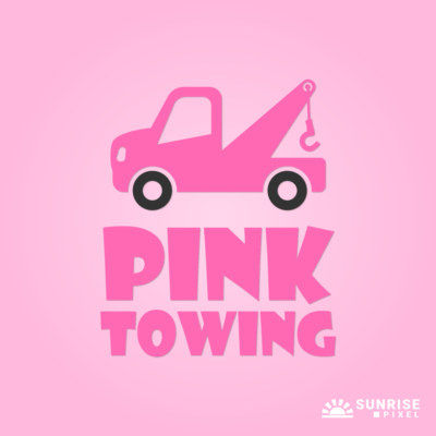 Pink Towing Logo Design
