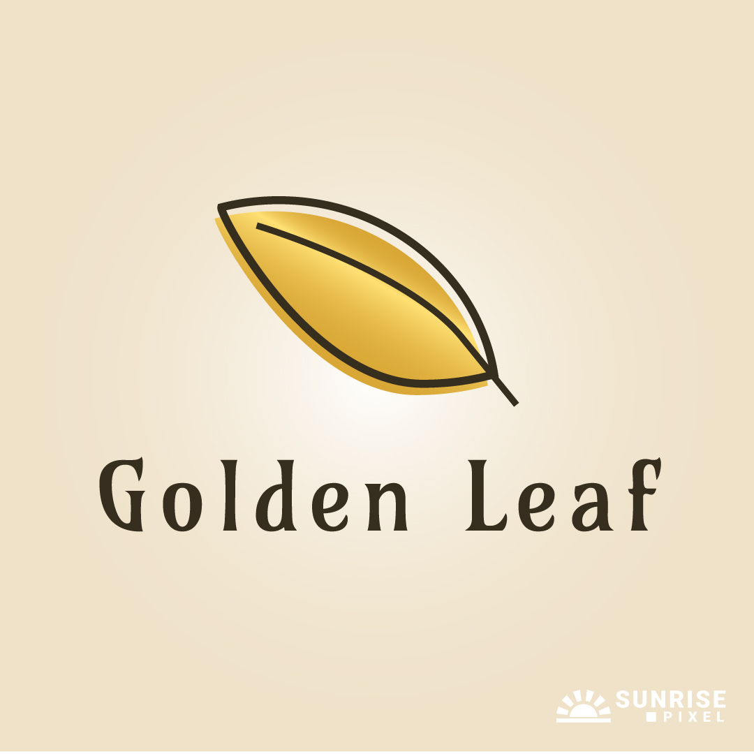 Golden Leaf Logo Design
